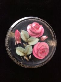 1940s/1950s Lucite Brooch with Raspberry Pink  Roses